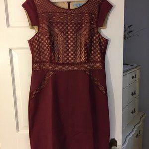 ANTONIO MELANI Embroidered Lace Dress